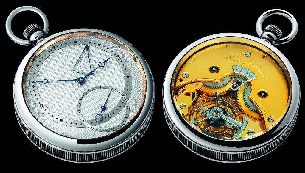 Voutilainen completed this tourbillon pocketwatch in 1994.