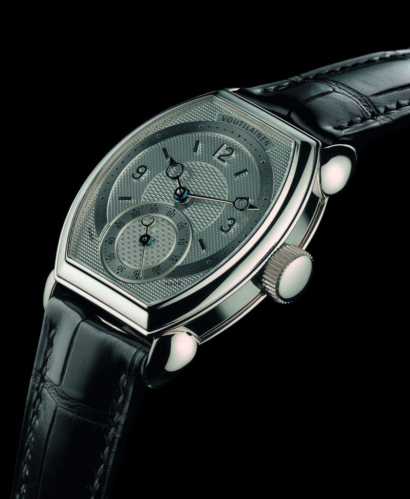 One-of-a-kind tonneau watch with jumping seconds hand