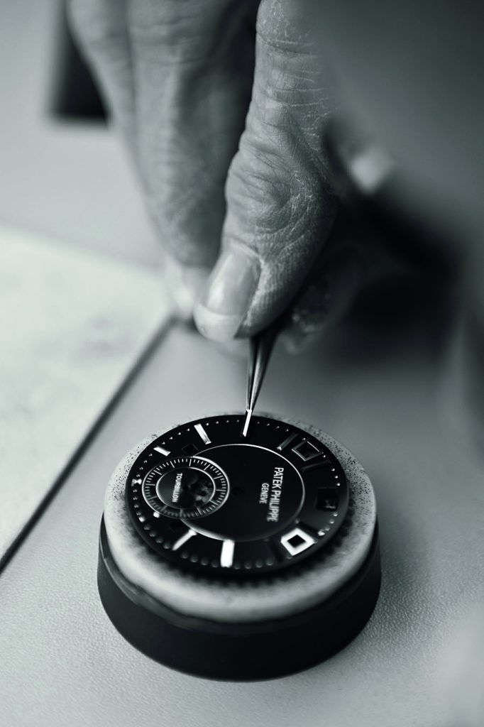 Patek Philippe dial making hour markers