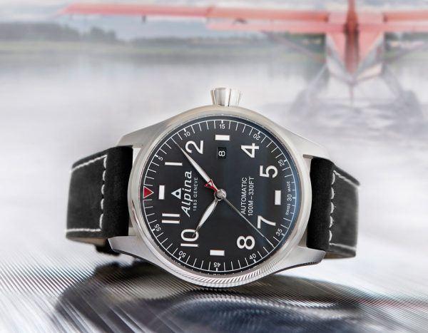 Alpina Startimer Pilot Automatic - black dial