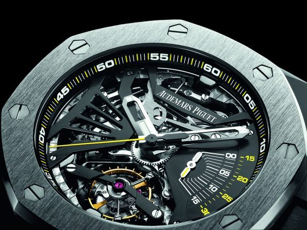 The Supersonnerie incorporates, in addition to an advanced minute repeater, a 30-minute chronograph and tourbillon regulator.
