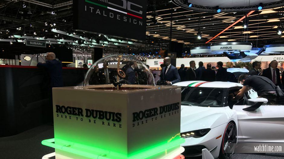 Roger Dubuis booth at the 87th Geneva International Motor Show