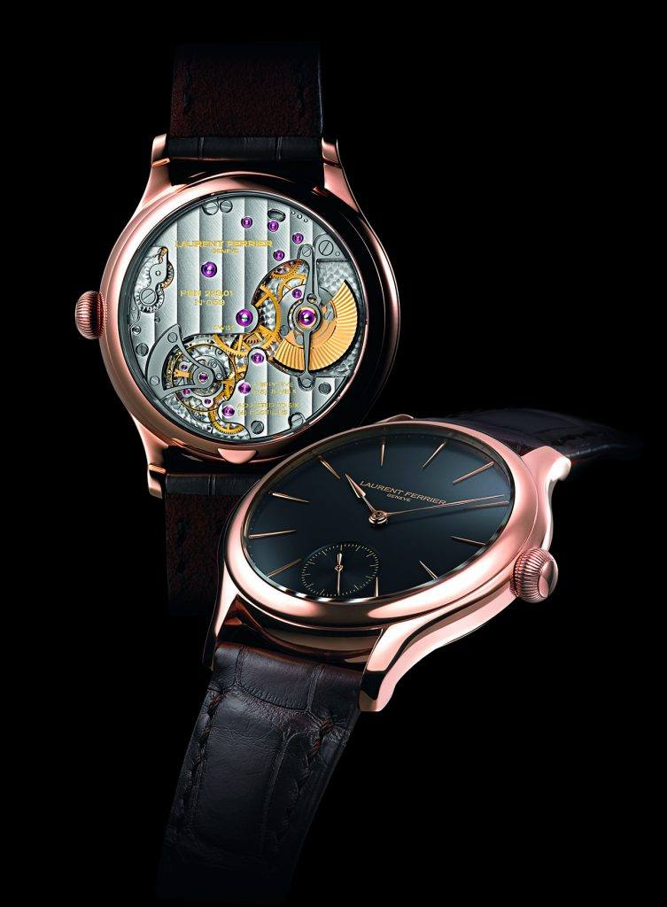 The Laurent Ferrier Galet Micro- Rotor is equipped with a natural escapement and specially designed micro-rotor.