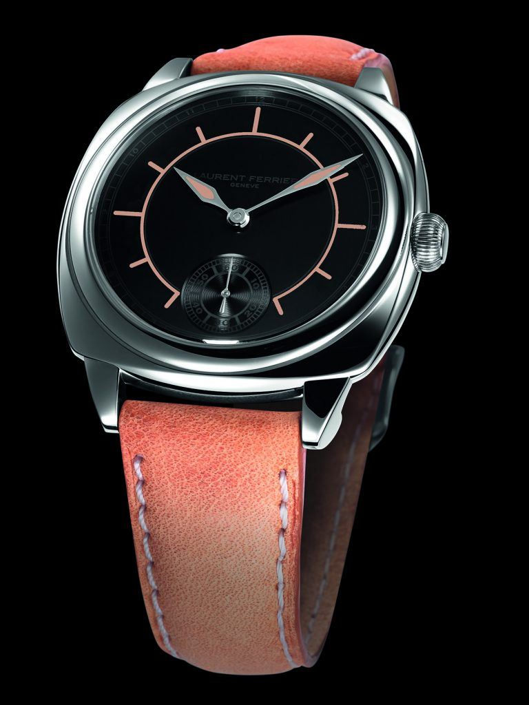 A steel-case Laurent Ferrier Galet Square Boréal, equipped with a Micro-Rotor movement