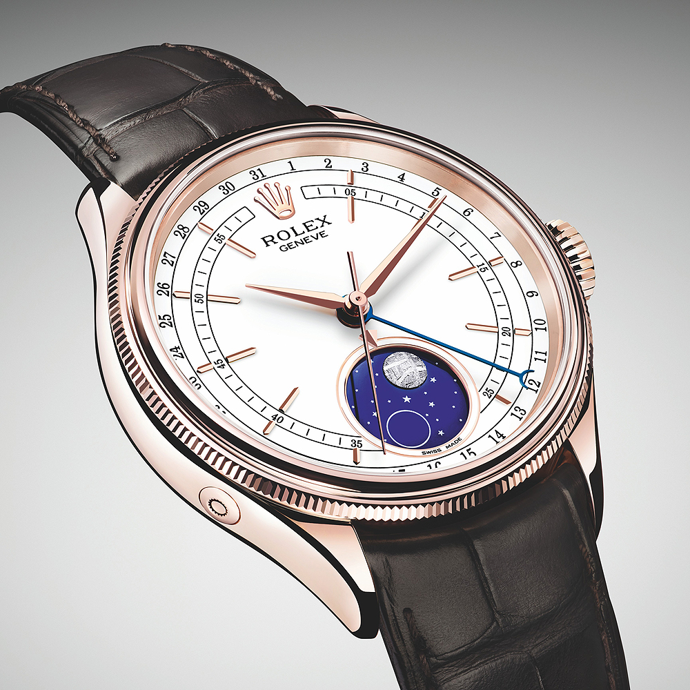 Rolex Cellini Moonphase Features Patented Module, Meteorite Appliqué
