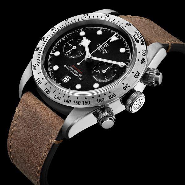 Tudor Black Bay Chronograph - leather strap