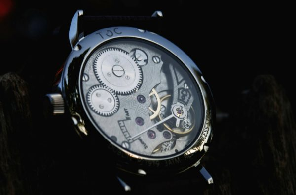 Toc Watch Toc19: Sapphire Glass Caseback With Exposed Hand Wound Seagull Movement