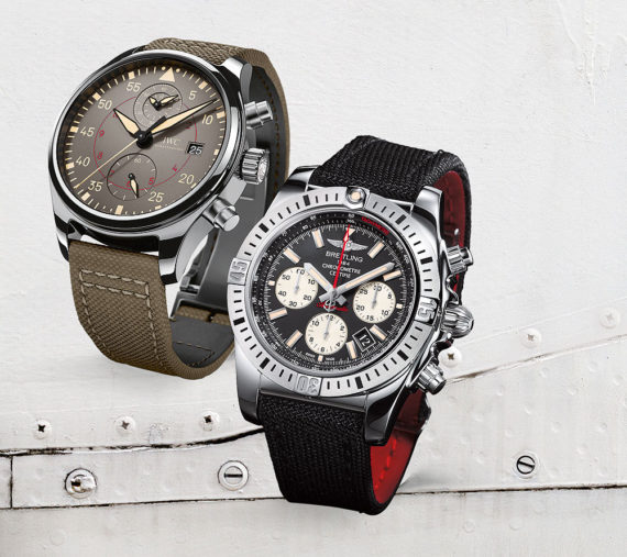 Часы IWC Pilot's Chronograph Top Gun Miramar & Breitling Chronomat 44 Воздушно-десантные