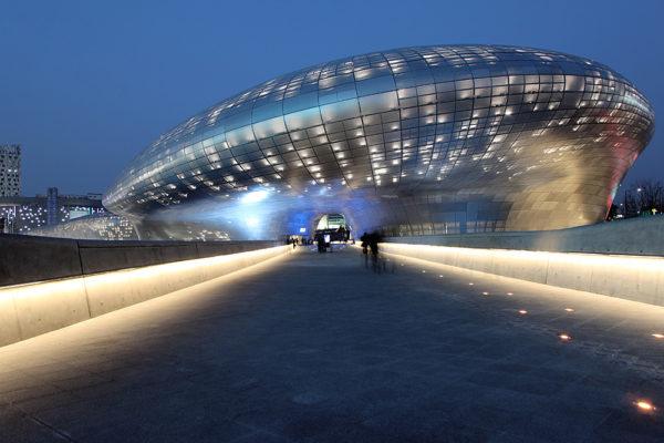 The Dongdaemun Design Plaza in Seoul, South Korea