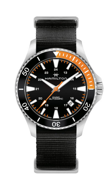 Hamilton Khaki Navy Scuba - orange/black - strap