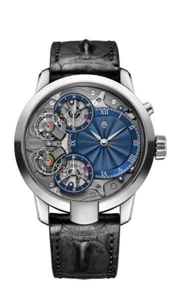 The Armin Strom Mirrored Force Resonance with a guilloché dial