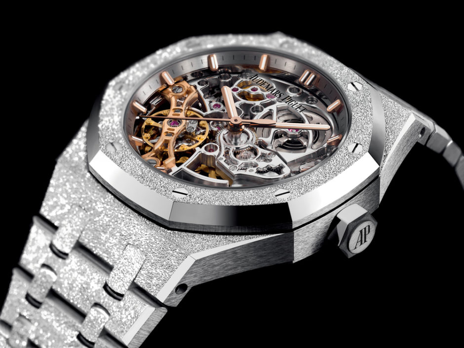 The Frosted Gold Royal Oak Double Balance Wheel Openworked