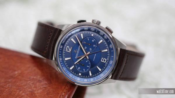 Jaeger-LeCoultre Polaris Chronograph - Blue Dial - reclining