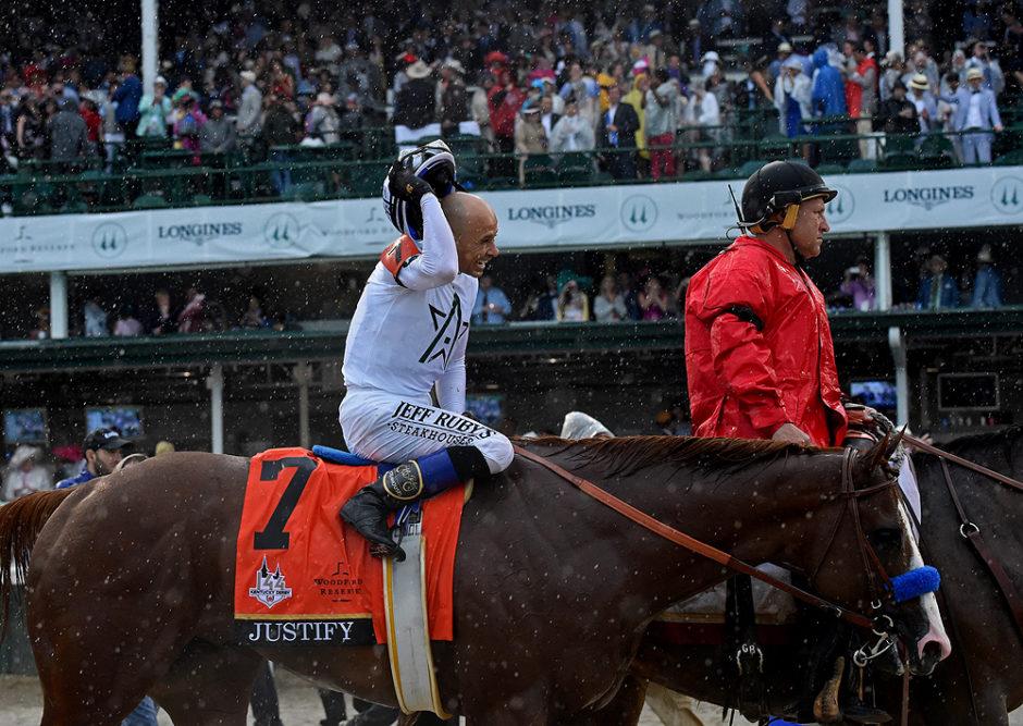 Longines Kentucky Derby - Justify jockey