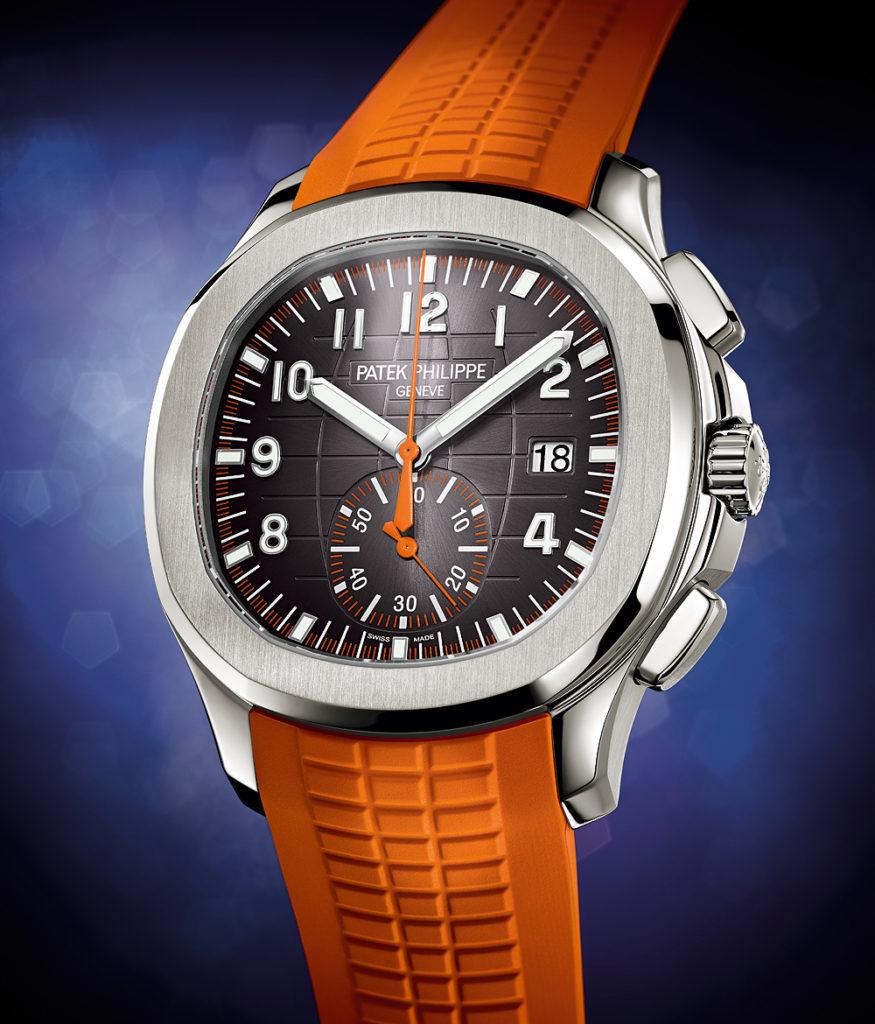 Patek Philippe Aquanaut Chronograph Ref. 5968A-001 - Orange strap