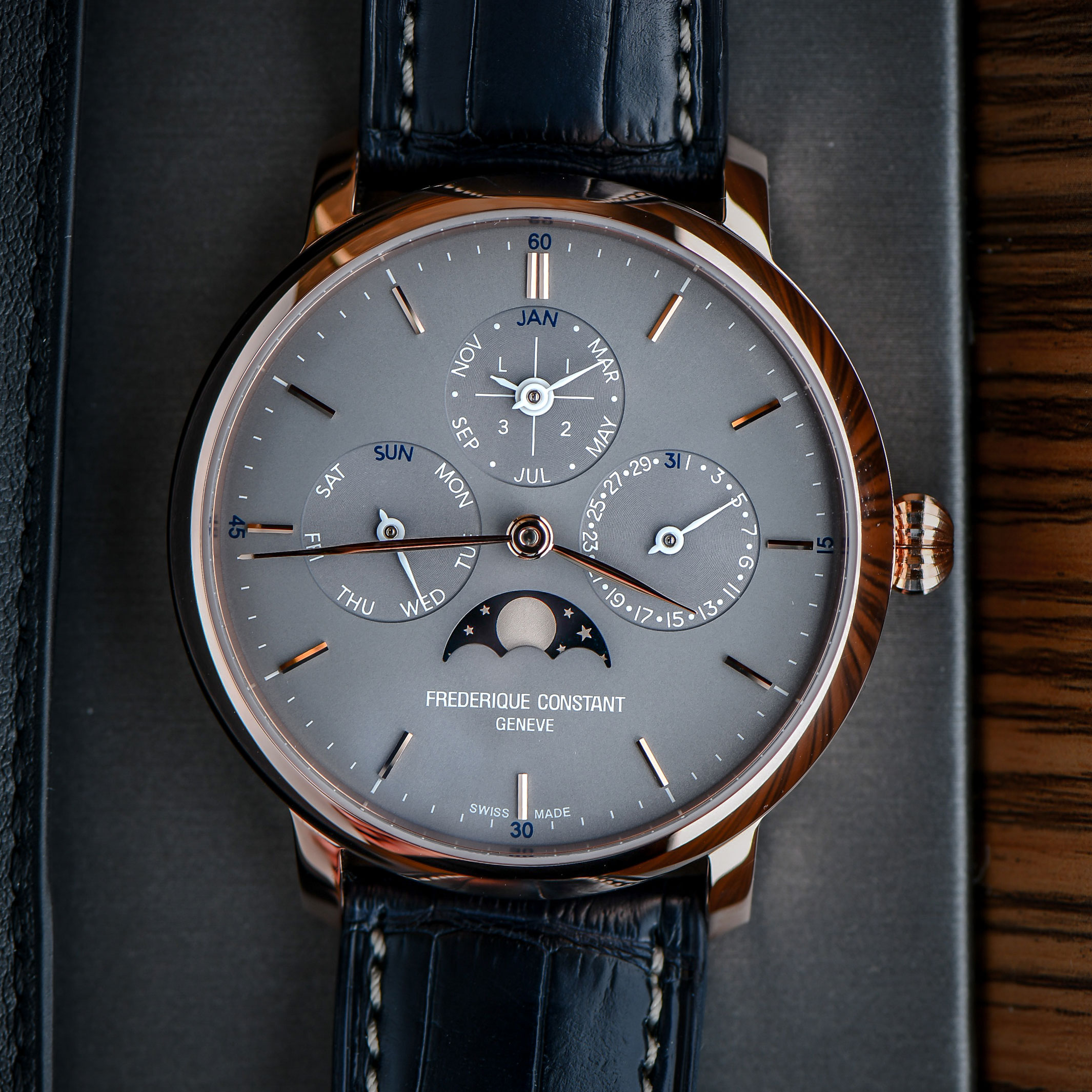 Frederique Constant Manufacture Perpetual Calendar Introduces New Gray Dials