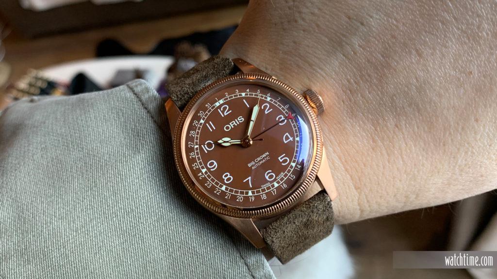 Oris Big Crown Pointer Date Bronze - WristOris Big Crown Pointer Date Bronze - Wrist