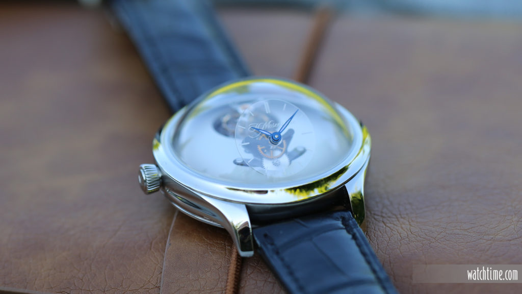 H. Moser & Cie. MBF Collaboration - Silver Dial - flat