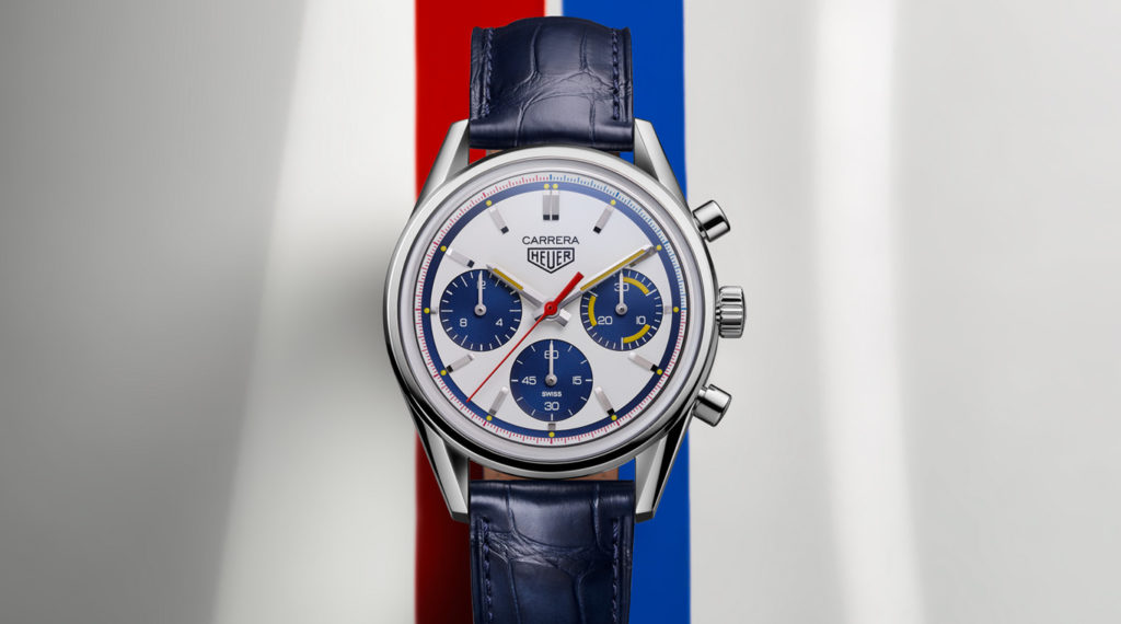 Front view of the new Montreal chronograph from TAG Heuer