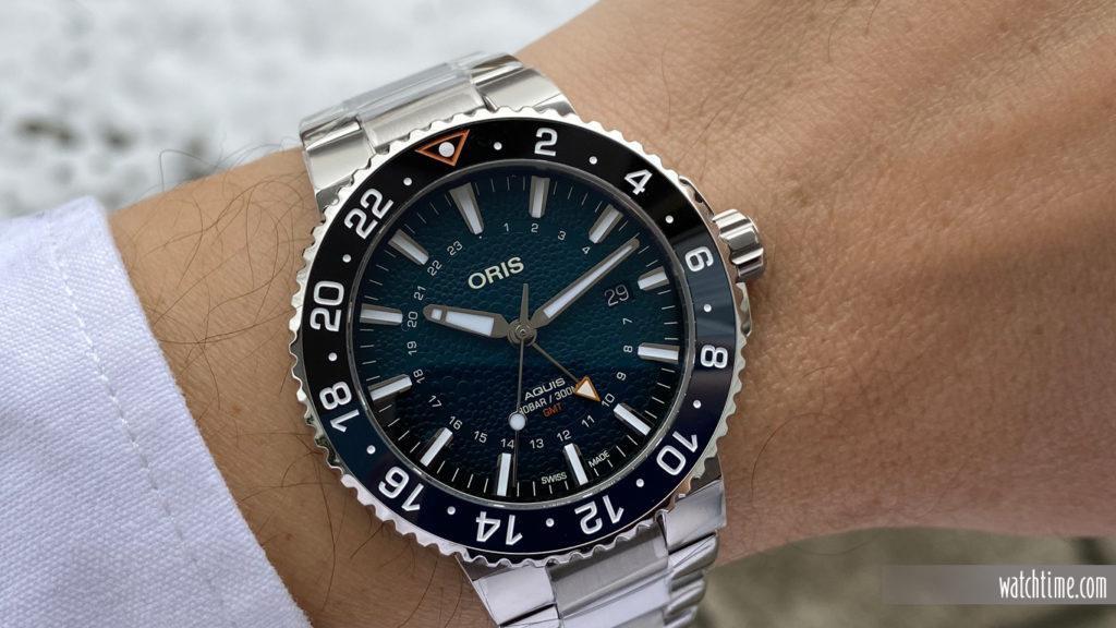 Oris Blue Whale Limited Edition - wrist